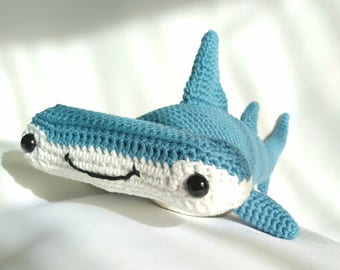 Hard Copy Hammerhead Shark Crochet Pattern,  Hank the Hammerhead Shark Crochet Pattern, Crochet Pattern, Shark Amigurumi Pattern
