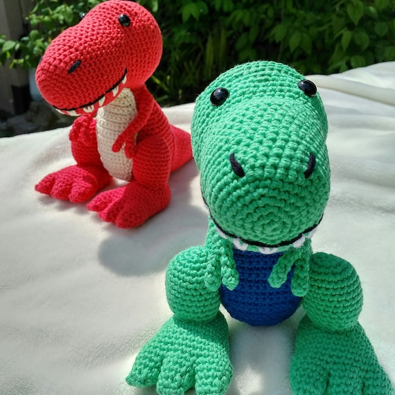 PDF T-Rex Crochet Pattern  Travis the T-Rex Crochet Pattern