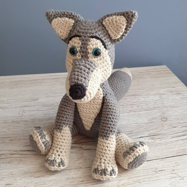 PDF Wolf Crochet Pattern  Wilbur the Wolf Crochet Pattern image 0