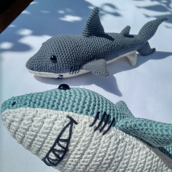 Crochet Shark Amigurumi - One Dog Woof | 570x570