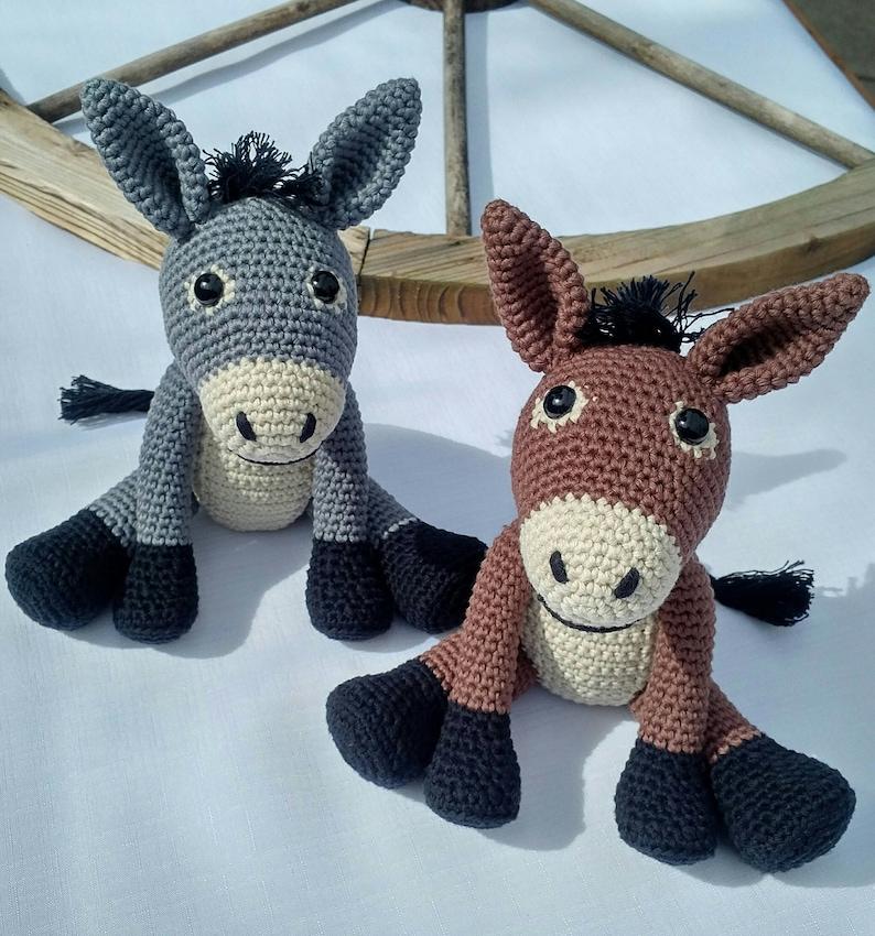 PDF Donkey Crochet Pattern  Dennis the Donkey Crochet image 0