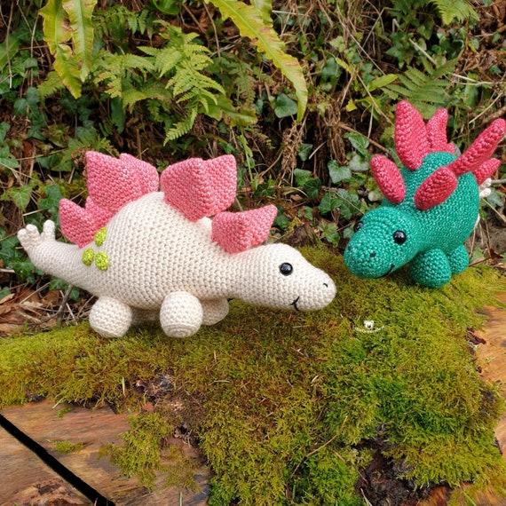 PDF Stegosaurus Crochet Pattern  Stan the Stegosaurus Crochet