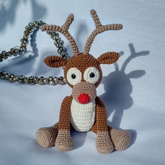 PDF Reindeer Crochet Pattern Rudolph the Red Nosed Reindeer | Etsy
