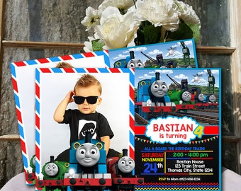 Train Invitation / Thomas The Train Birthday / Thomas The Train Birthday Invitation / Thomas The Train Party / Thomas Train Printable UF0135