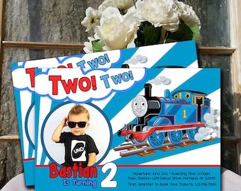 Train Invitation / Thomas The Train Birthday / Thomas The Train Birthday Invitation / Thomas The Train Party / Thomas Train Printable UF0136