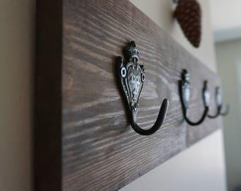 Rustic Wooden Entryway Coat Rack, Rustic Wooden Rack, Entryway Rack, Coat Rack, Rustic Home Decor, Rustic Furniture