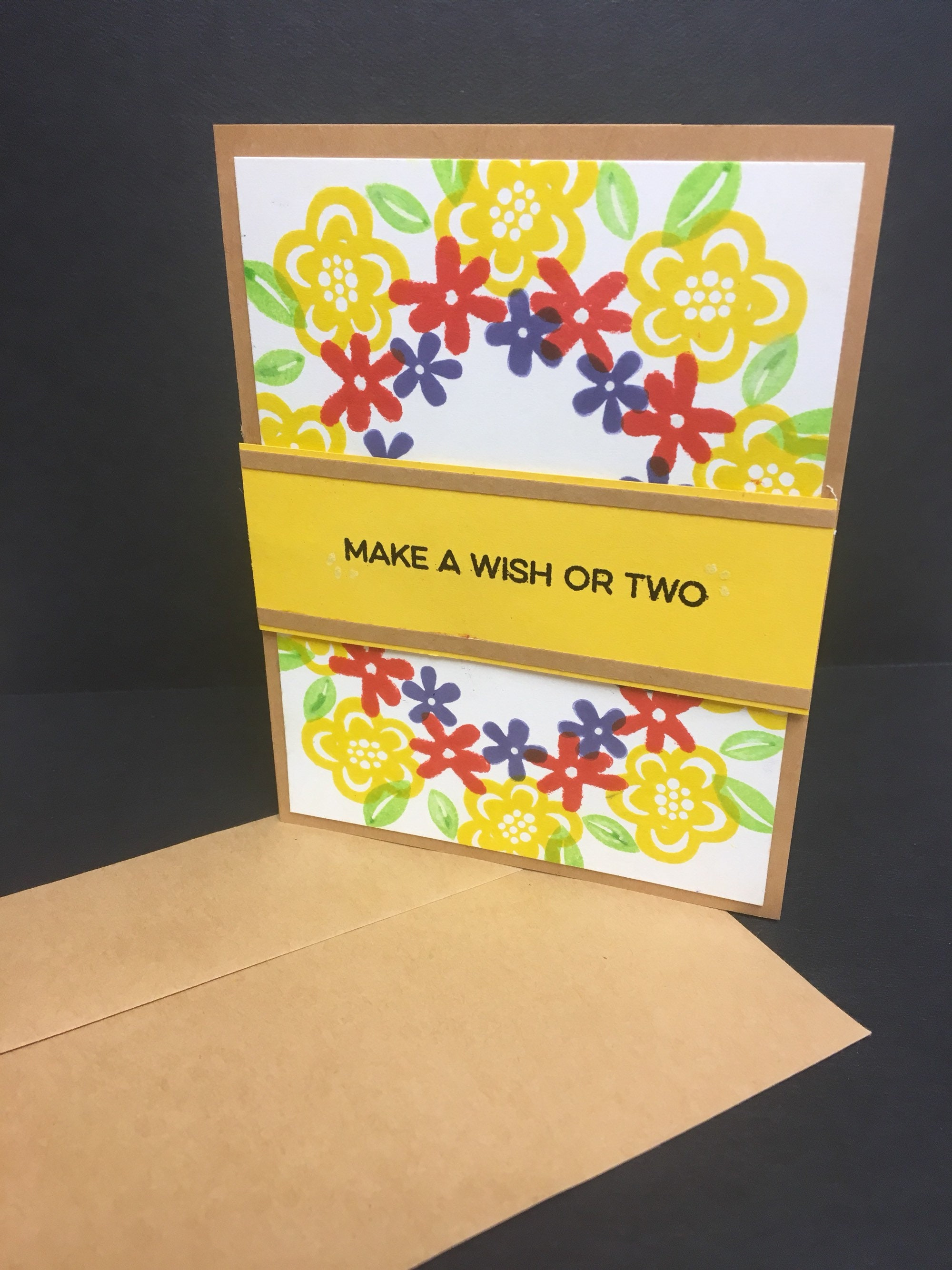 Make A Wish Or Two Birthday Card Handmade Birthday Card Etsy