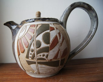 Sandstone, ceramics, pottery teapot