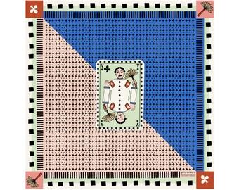 Silk twill square -60 cm - Clover Valet -