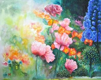 Garden by H A May - Original Fine Art Watercolour