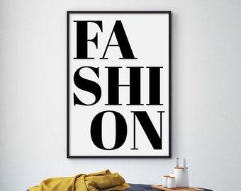 6a2d2926130ac Fashion wall art | Etsy