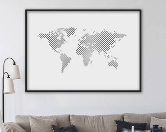 Artculos similares a world map travel map world map print sale world map world map printable travel map world map print geometric world map geometric art modern minimalist scandinavian style gumiabroncs Image collections