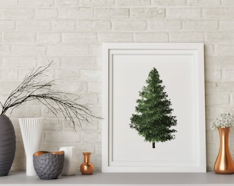 christmas tree print christmas decor christmas wall print 11x14 18x24 holiday decor christmas home decor ldeas christmas decor - Christmas Home Decor