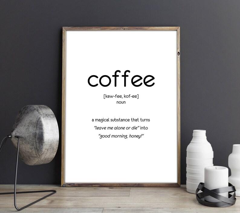 Citaten Koffie English : Grappig citaat van koffie koffie poster koffie afdrukbare etsy