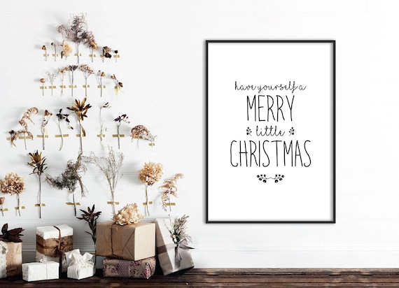 SALE Christmas Quotes Print Have Yourself a Merry Little | Etsy