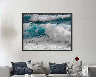 Ocean print, wave print, ocean wall art, ocean photography, ocean waves print, ocean decor, water print, ocean waves art, DIGITAL FILES