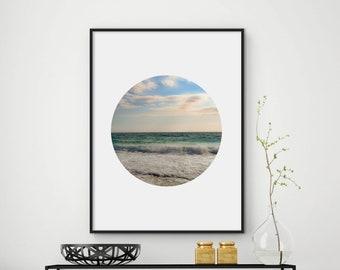 Ocean print, ocean wall art, beach print, ocean waves print, printable art, ocean decor, ocean water print, sea print, DIGITAL FILES