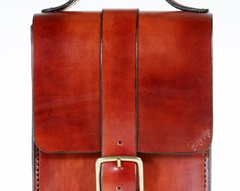 """Méa"" mens leather satchel"