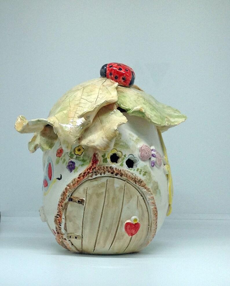 Ceramic Fairy House Lantern