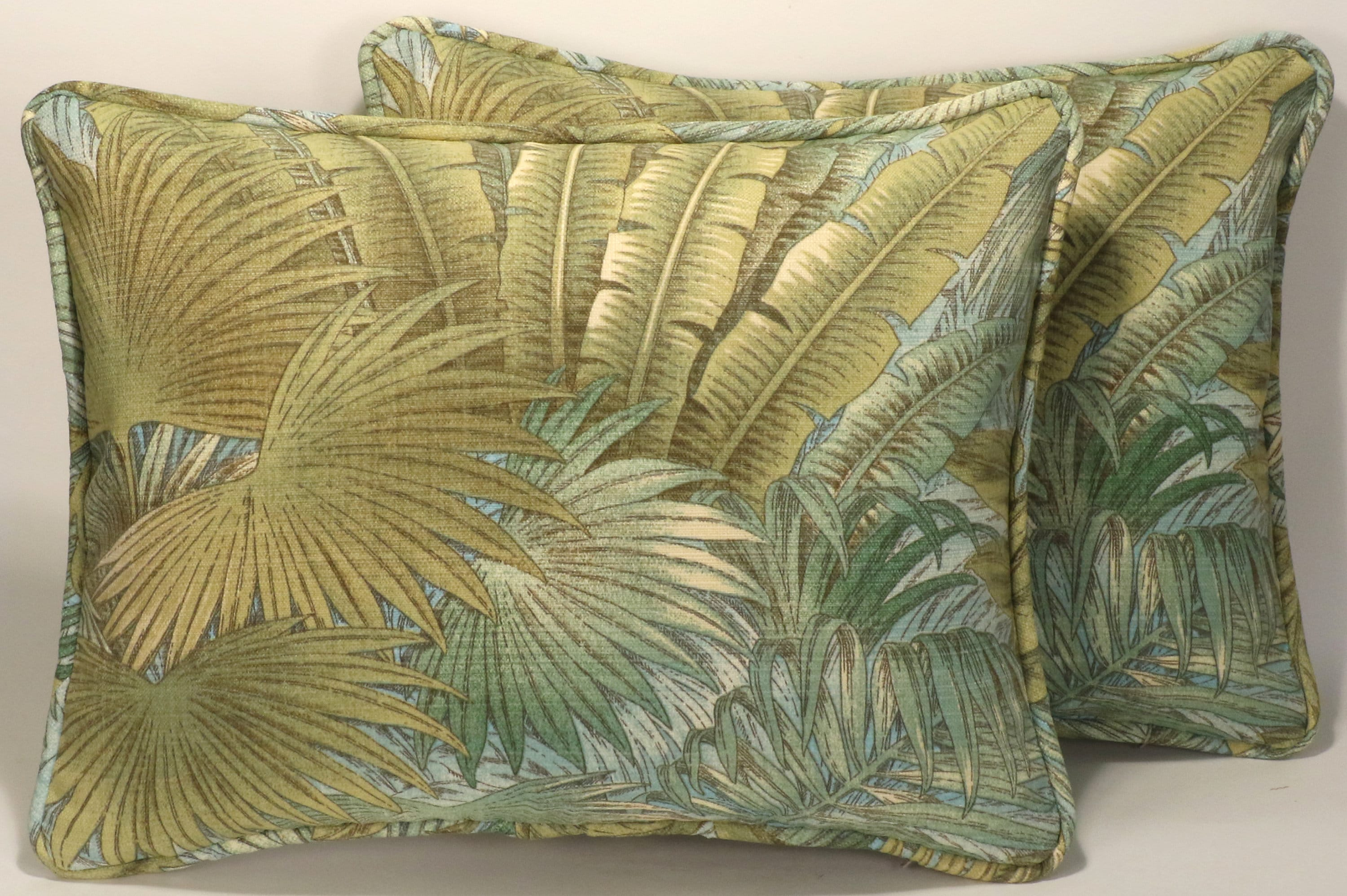 Set Of 2 Tropical Throw Pillows2 14 X 18 Tommy Etsy
