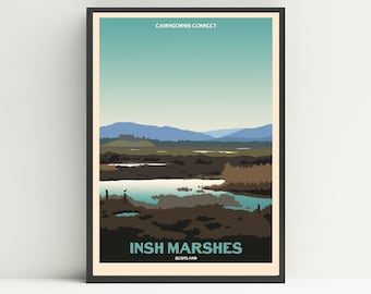 Insh Marshes print, Cairngorms print, Scotland print