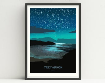 LIMITED EDITION Art Poster/Print of Treyarnon Bay in Cornwall
