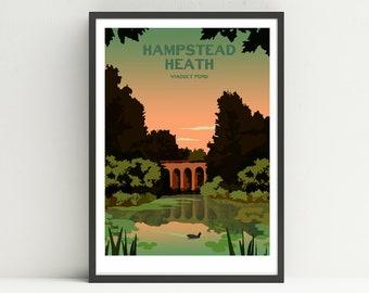 Art print POSTER CANVAS 1915-Hampstead Heath