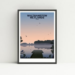 Priory Park Reigate travel poster print by Susie West