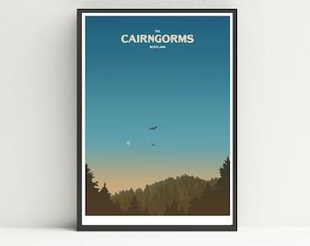 Cairngorms National Park print, Scotland print, UK National Park print