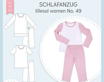 Paper cut pattern lillesol women No49 pyjamas