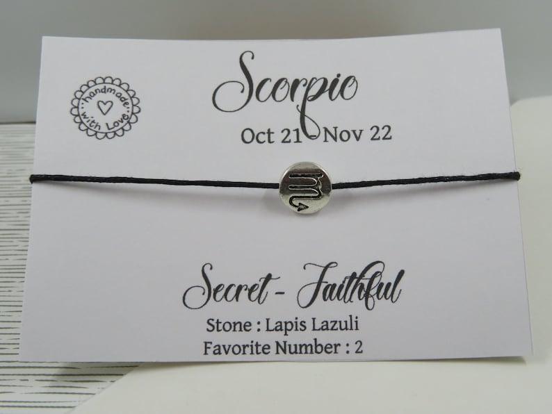 Scorpio Zodiac bracelet - Friendship bracelet - sign Scorpio Zodiac -  Constellation jewelry - october november birthday gift