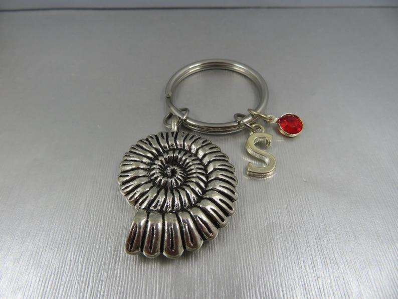 sea shell keyring friendship gift snail shell keychain sea snail shell key holder sea shell jewel