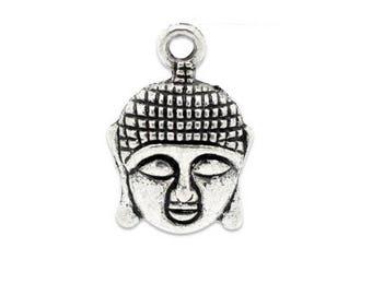 SET of 3 charms, Buddha, yoga, zen, China (E39)