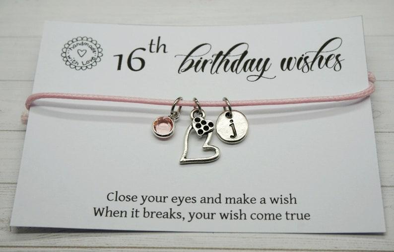16th birthday wishes happy birthday bracelet 16th sweet gift teenager wish teenager Birthday Party Birthday Girl sweet sixteen