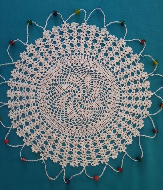 Satz von 6 Perlen Krug Abdeckungen Häkeldeckchen Vintage | Etsy