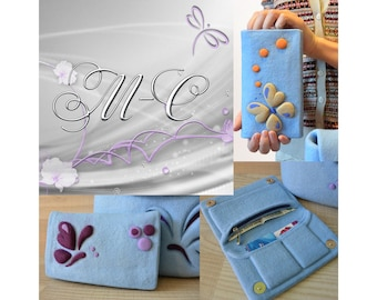 Master Class to Felting Wallet, Tutorial to Felting, Tutorial Needle Felting of Wallet, Tutorial to Wallet, Felt Wallet, Felted Wallet, Felt