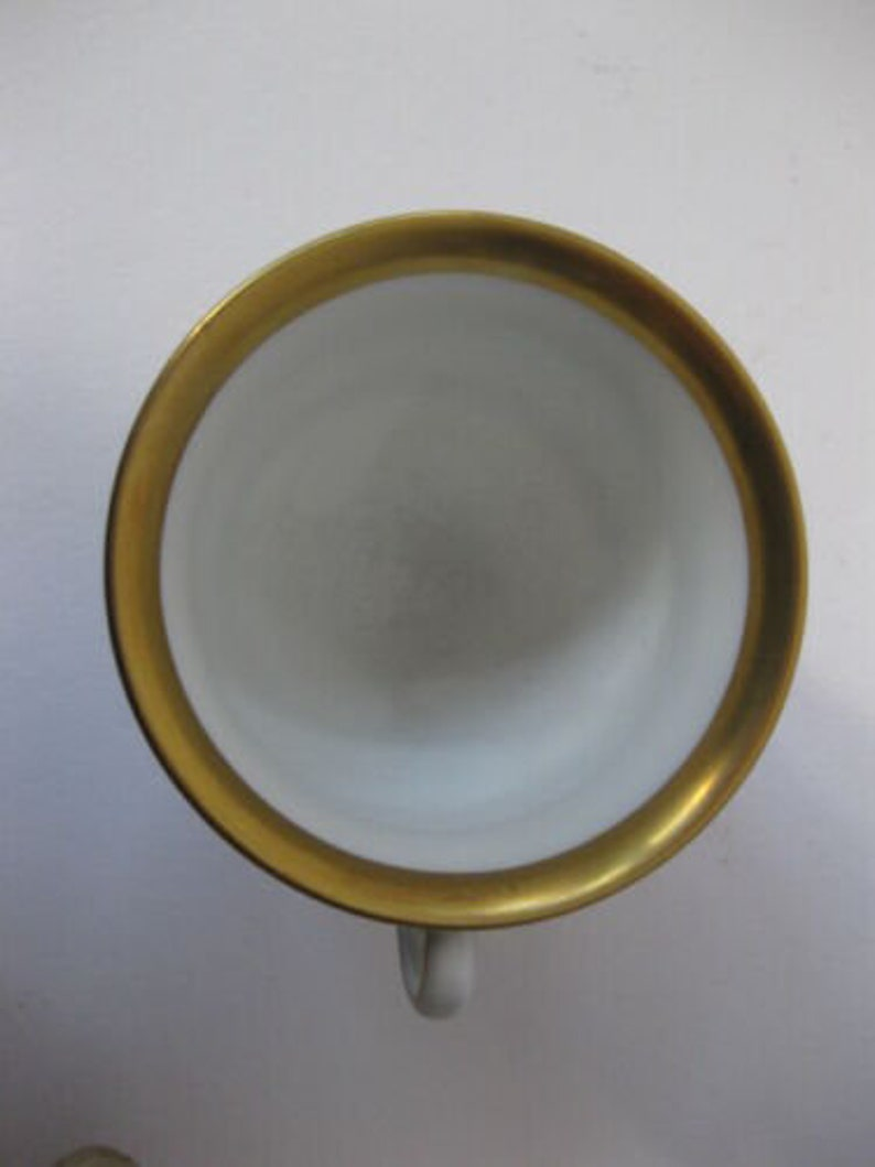 Empire Style Porcelain Footed Cup and Saucer by Vista Alegre Portugal