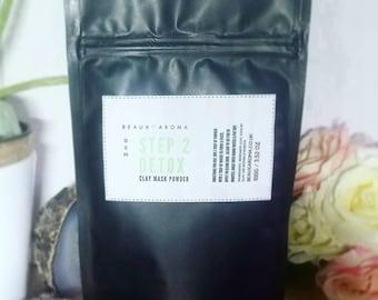 Vegan Natural Clay Mask Powder. Kaolin, Bentonite, French Green Clays for All Skin Types OCM