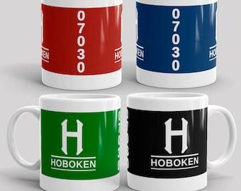 Classic Hoboken   11 oz Ceramic Coffee Mugs