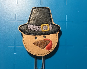 Pilgrim Turkey Boy Planner Clip