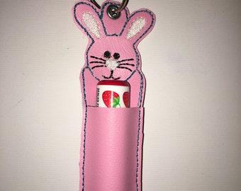 Bunny Lipbalm Keychain Holder