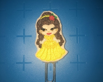 Yellow Princess Planner Clips