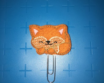 Sleeping Fox Planner Clip