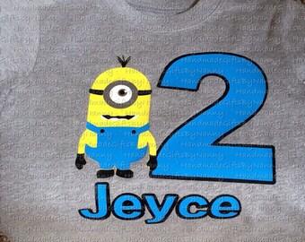 One-Eyed Yellow Guy Birthday Shirt