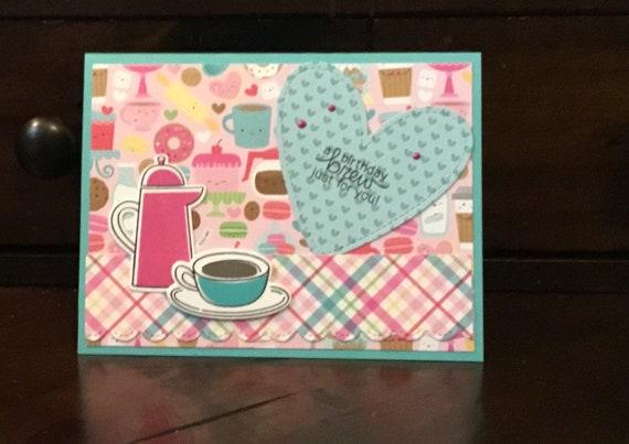 Coffee Lovers Birthday Card Set Free Shipping