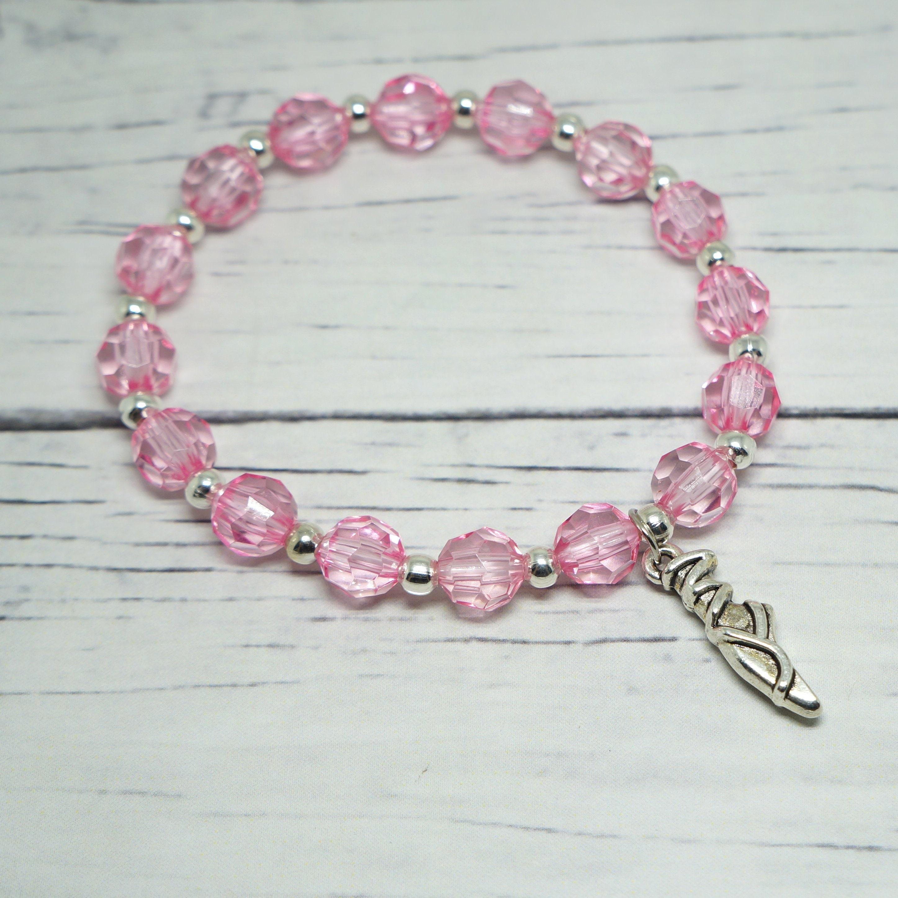 Ballerina Pink Bracelet Dance Recital Gift Ballet Birthday Etsy