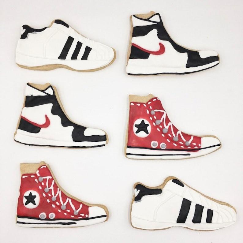 b75f19c3599e Sneaker Cookies Adidas Nike Converse shoe cookies