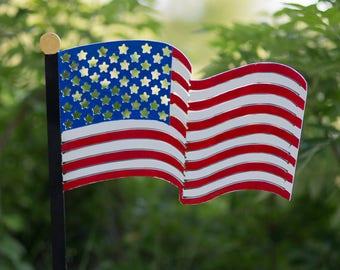 American Flag Yard Decoration   USA   Independence   Garden Decor   Veteran    Patriotic