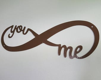 Wall Decor - Infinity - You and Me - Wall Art - Valentine's Day - Anniversary Gift - Wall Hanging - Husband - Wife - Girlfriend - Boyfriend