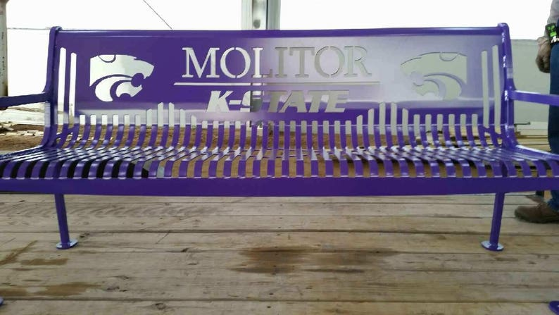 College Sports - Bench Father/'s Day 6ft Wedding Gift Anniversary Gift Patio Furniture Personalized - Metal Bench Outdoor